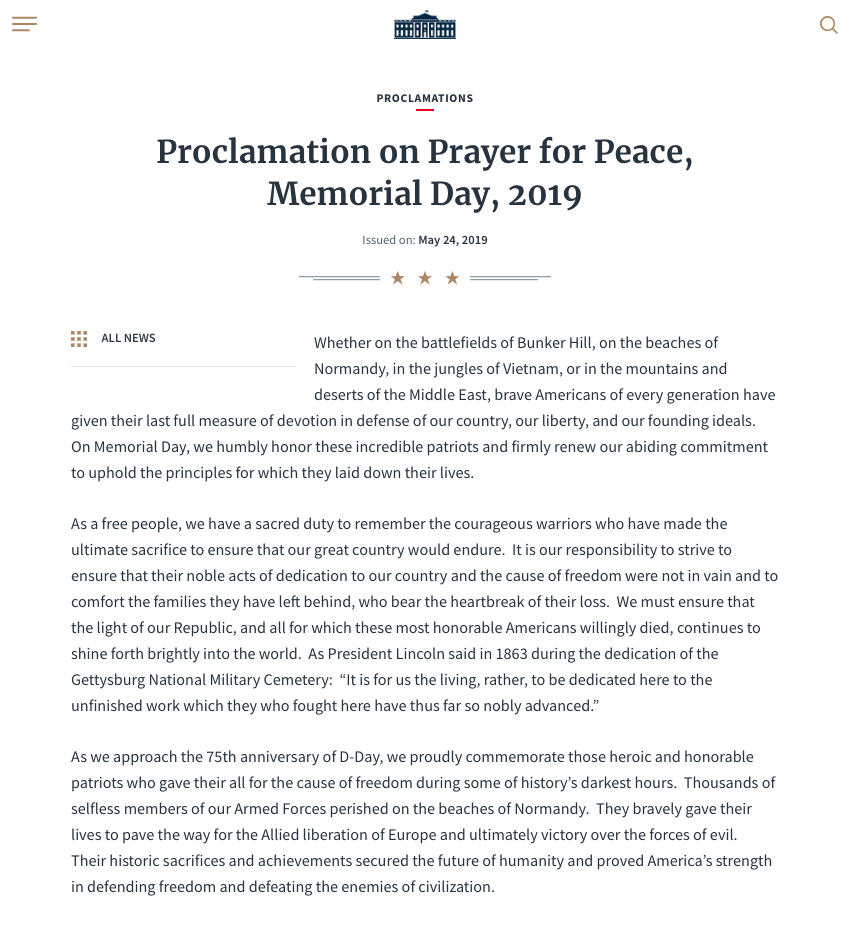 Proclamation of Peace p1