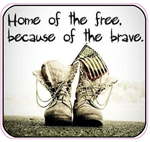 Home of the Free Because of the Brave v 3 Decal 5 in by Nostalgia Decals