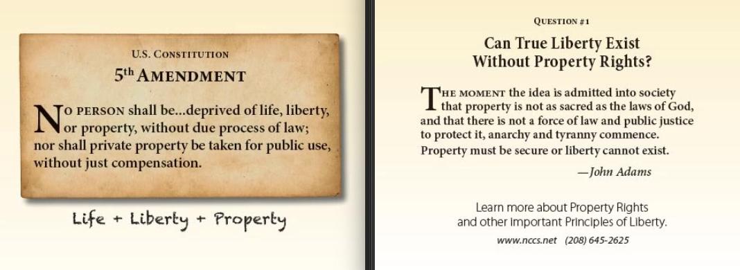 Life Liberty and Property NCCS